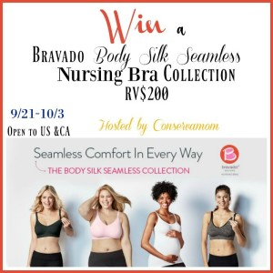 Bravado Designs Body Silk Seamless Nursing Bra Collection Giveaway (RV$200) ends 10/3