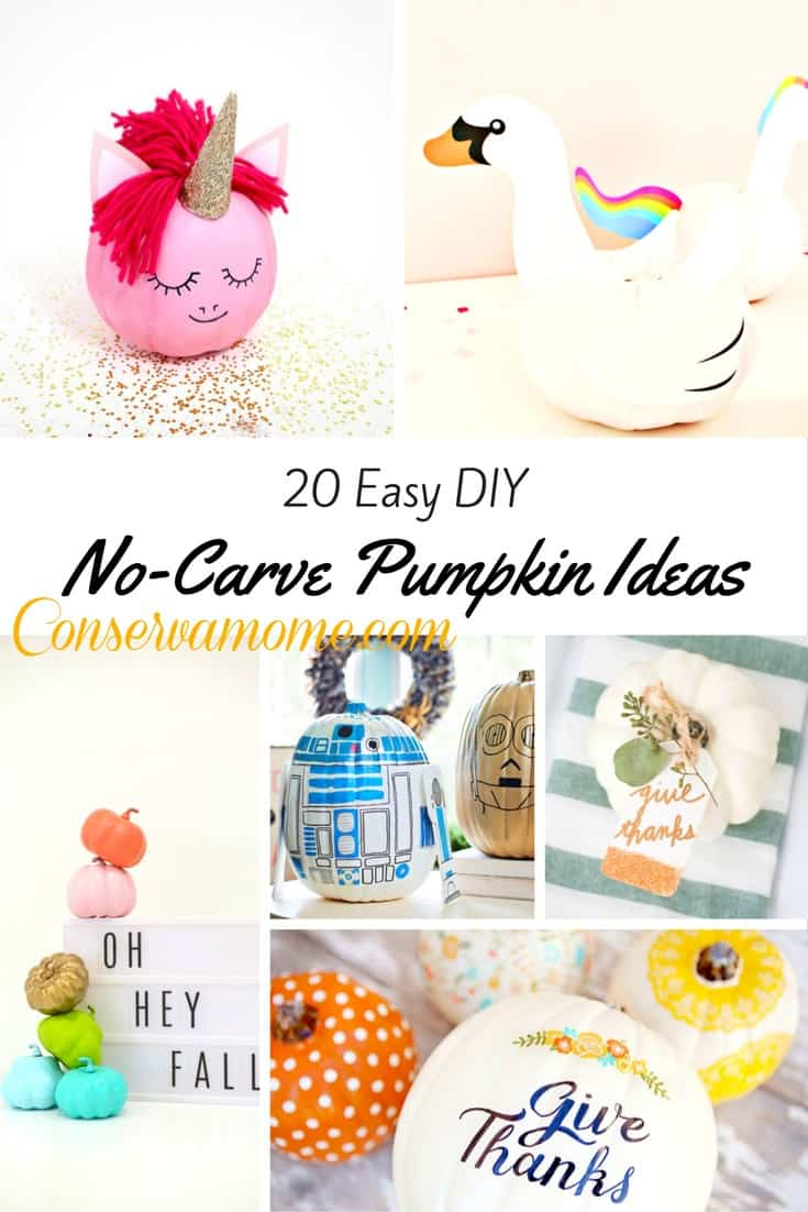 20 Simple Nail Designs For Beginners: 20 Easy DIY No Carve Pumpkin Ideas