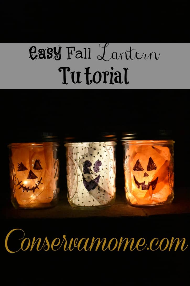 fThis easy Fall Lantern tutorial will be the perfect addition to any Fall or Halloween decor. I teamed up with  Sharpie Markers  to create some Fall fun.