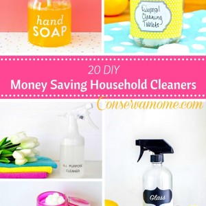 20 DIY Money Saving Household Cleaners