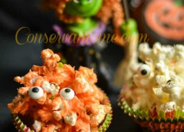 Spooky Popcorn Balls