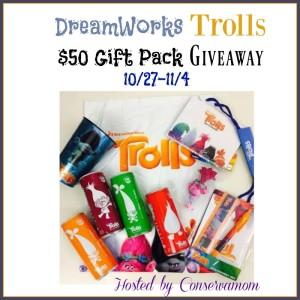Dreamworks Trolls Movie Gift Pack Giveaway ends 11/4 #UnconTROLLableFlavor