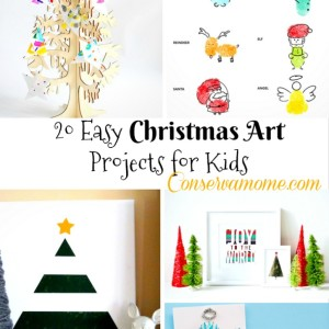 20 Easy Christmas Art Projects for Kids