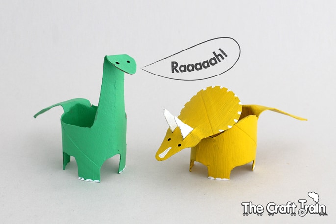 Toilet paper Craft Dinosaurs