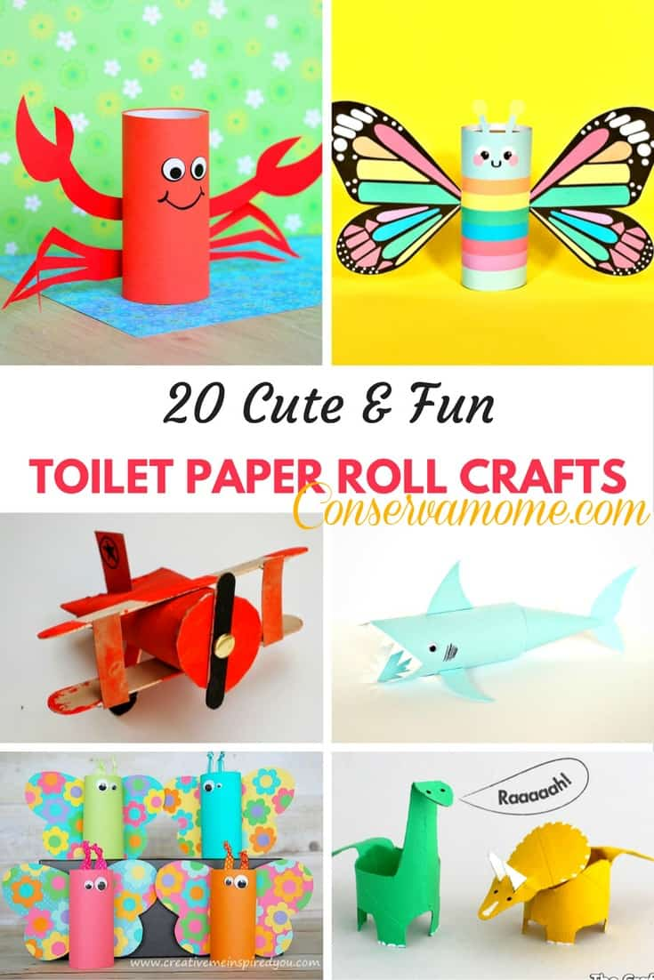 20 cute fun toilet paper roll crafts conservamom for Fun crafts with toilet paper rolls