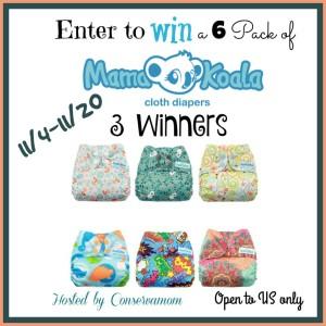 Mama Koala Cloth Diaper Mega Giveaway 3 Winners!