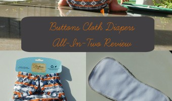 Buttons Cloth Diapers All-In-Two Review +Giveaway
