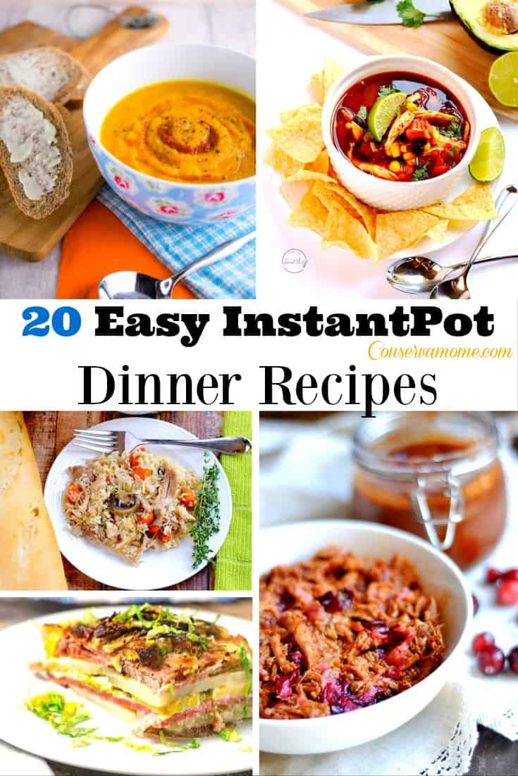 These 20 Easy Instant pot Dinner Recipes are the perfect way to make sure you're family is fed on busy nights.