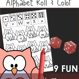 Valentine's Day Alphabet Roll & Coloring Pages