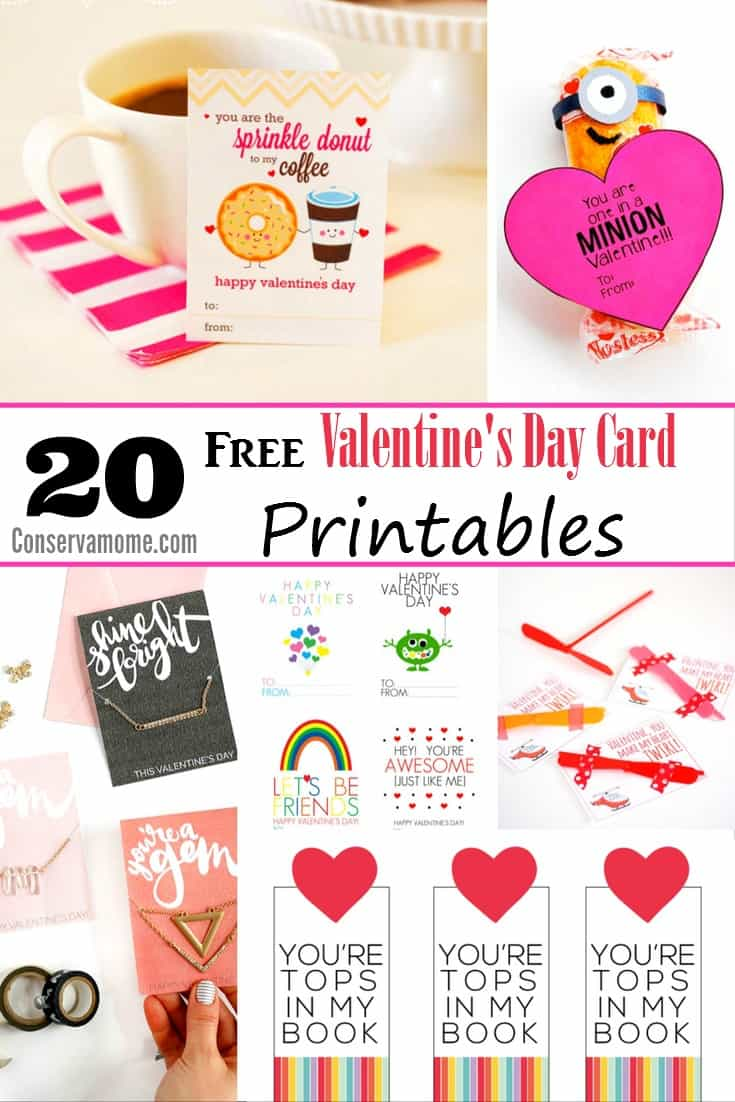 20 Free Valentines Day Card Printables – Valentine Day Cards Printable