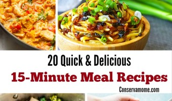20 Quick & Delicious 15 Minute Meal Recipes