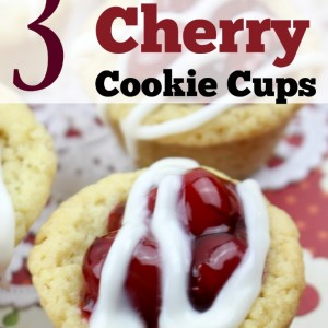 3 Ingredient Cherry Cookie Cups