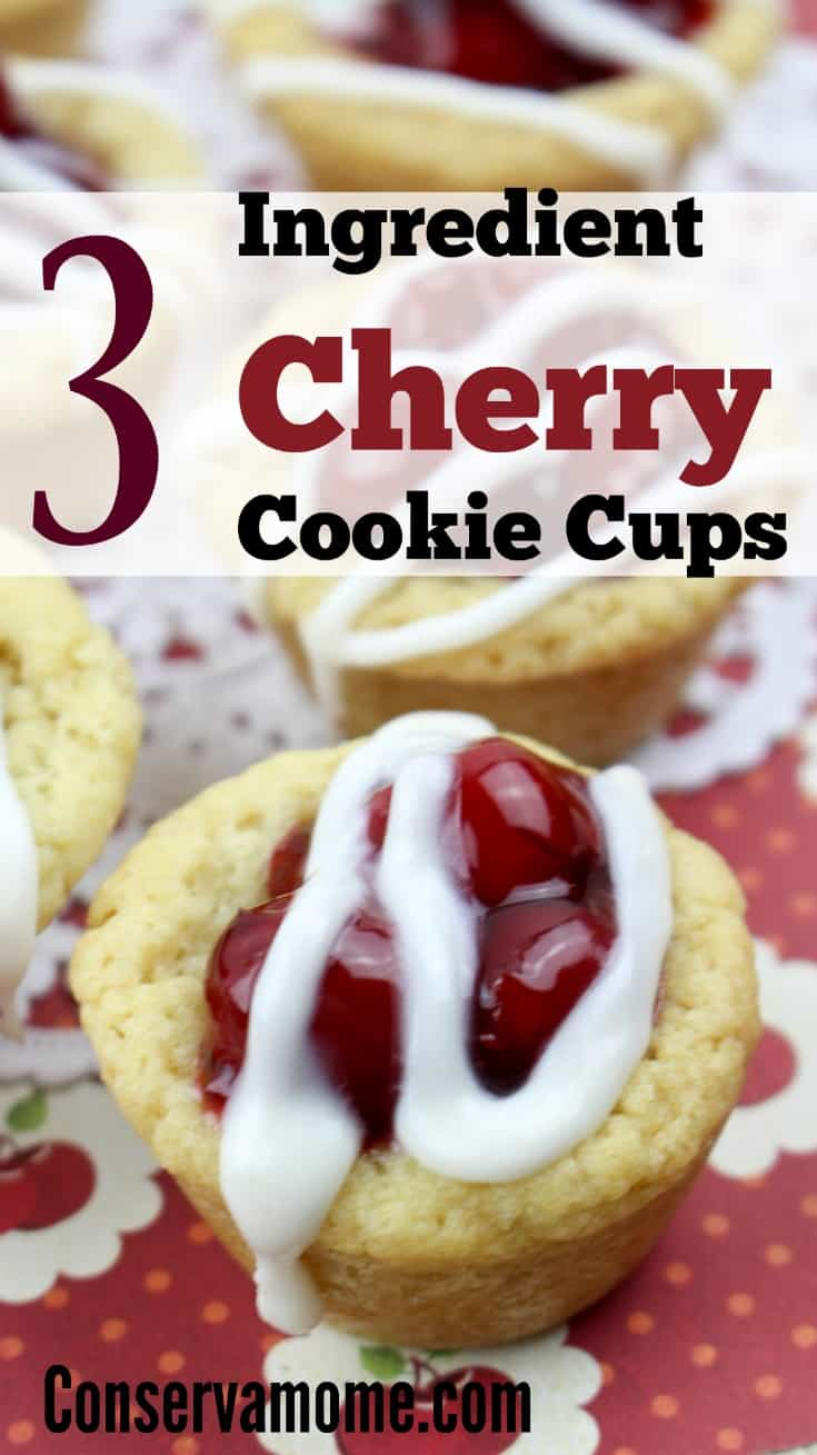 This crazy delicious, crazy easy 3 ingredient recipe will blow your mind and taste buds. So head over and check out this 3 Ingredient Cherry Cookie Cups.