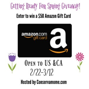 $50 Amazon Gift Card Giveaway ends 3/12