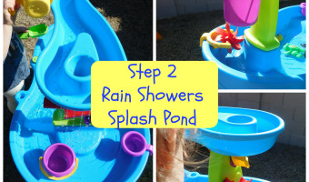 Step 2 Rain Shower Splash Pond Review + Giveaway