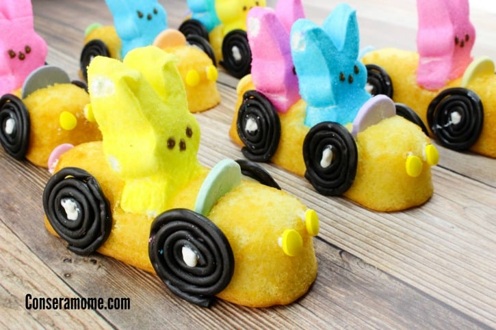 These fun little DIY Bunny Peep racers are a delicious and fun treat for any party or Easter event.