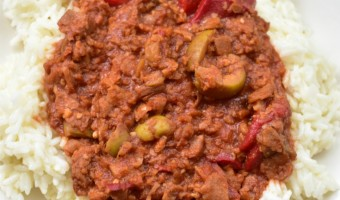 Vegetarian Cuban Picadillo Featuring MorningStar Farms