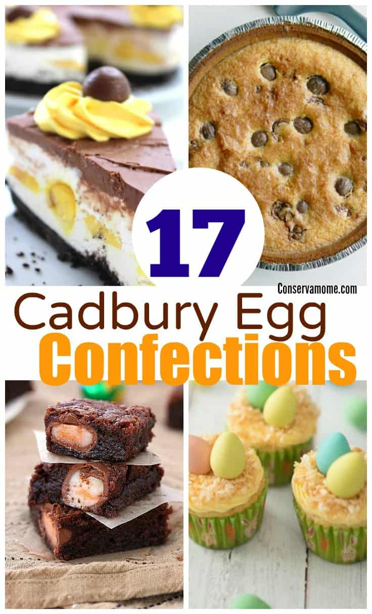 Cadbury Eggs are a delicious spring treat. However, did you know that there are some great ways to incorporate them into delicious desserts? Check out this round up of Cadbury Egg Confections- 17 desserts made with Cadbury eggs!