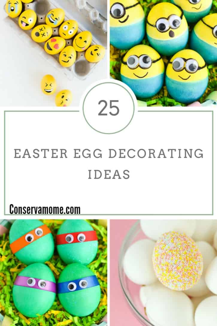 Here are 25 of the cutest and funnest Easter Egg Decorating ideas for you to try out. Think outside of the box with these fun ideas.