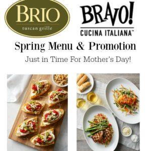 BRIO Tuscan Grille and BRAVO Cucina Italiana Spring Menu & Promotion