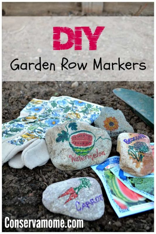 This DIY Garden Row Markers project is a fun way to add a little color to your garden and keep all of your veggies and fruit organized for the upcoming planting season.