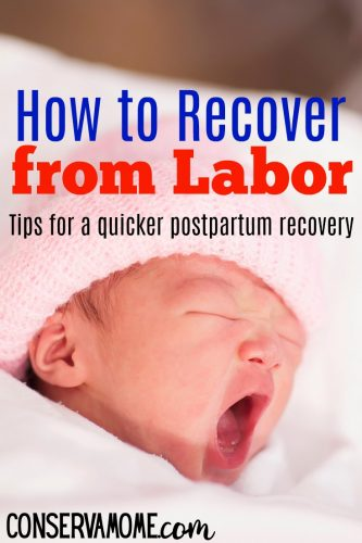 Tips for a quicker postpartum recovery
