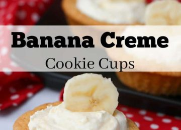Banana Creme cookie cup