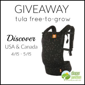 Tula Free-to-Grow Discovery Baby Carrier Giveaway ends 5/15