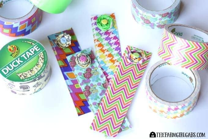 Duck Tape Flower Bookmark