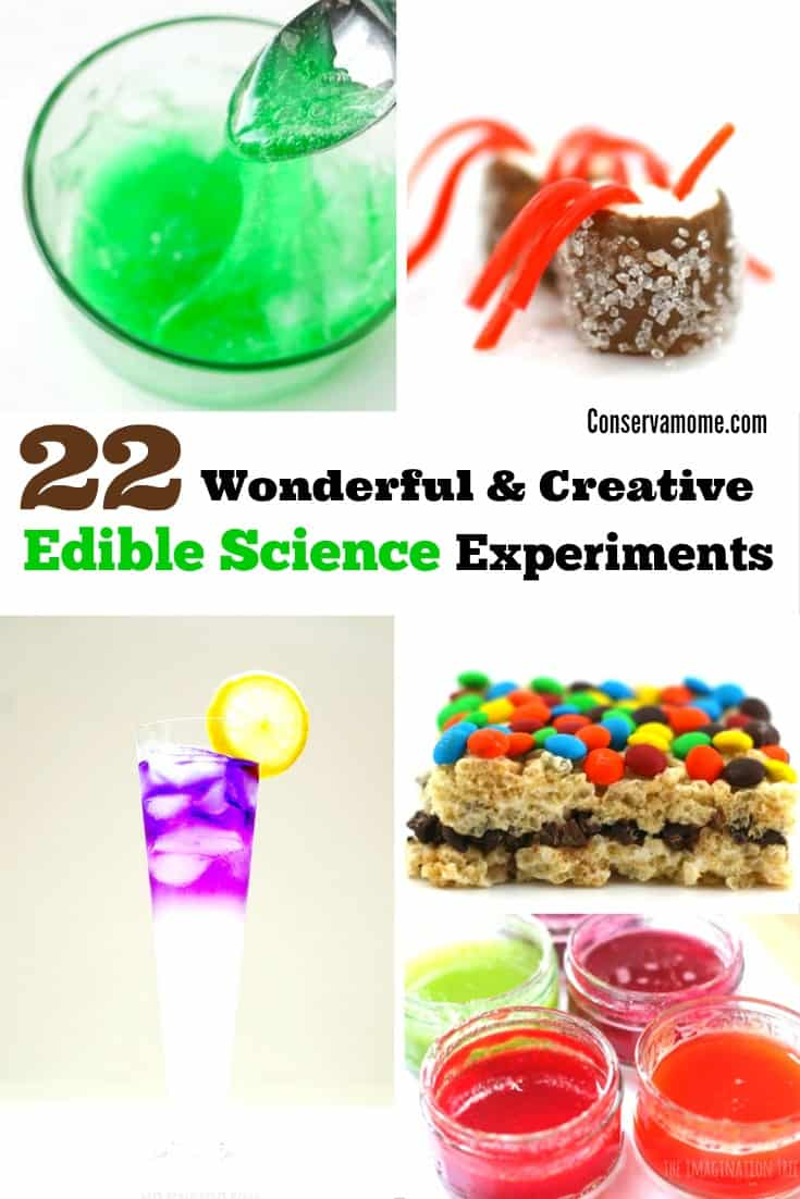 Check out this fun round up of 20 mind blowing Edible Science experiments below!