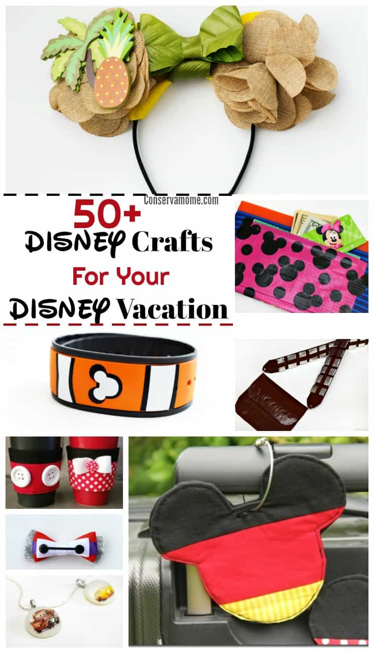 A Disney Vacation is a magical experience. Getting ready for it is part of the fun. Check out 50+ DIY Disney Crafts For Your Disney Vacation that will make the experience even more magical!