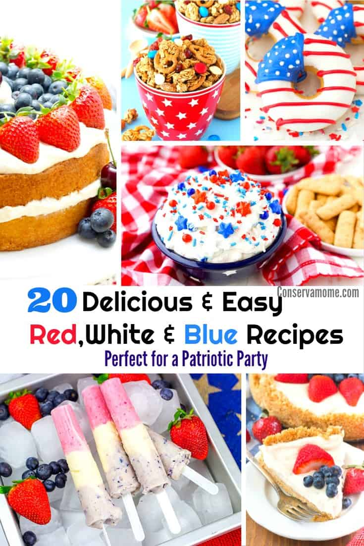 Red,White & Blue recipes Perfect for a patriotic party