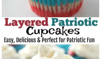 Layered Patriotic  Cupcakes – Red, White & Blue Patriotic fun!