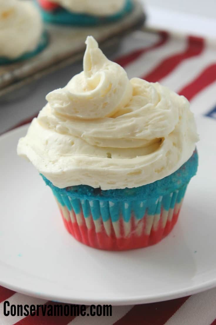 Red White & Blue Layered Cupcakes