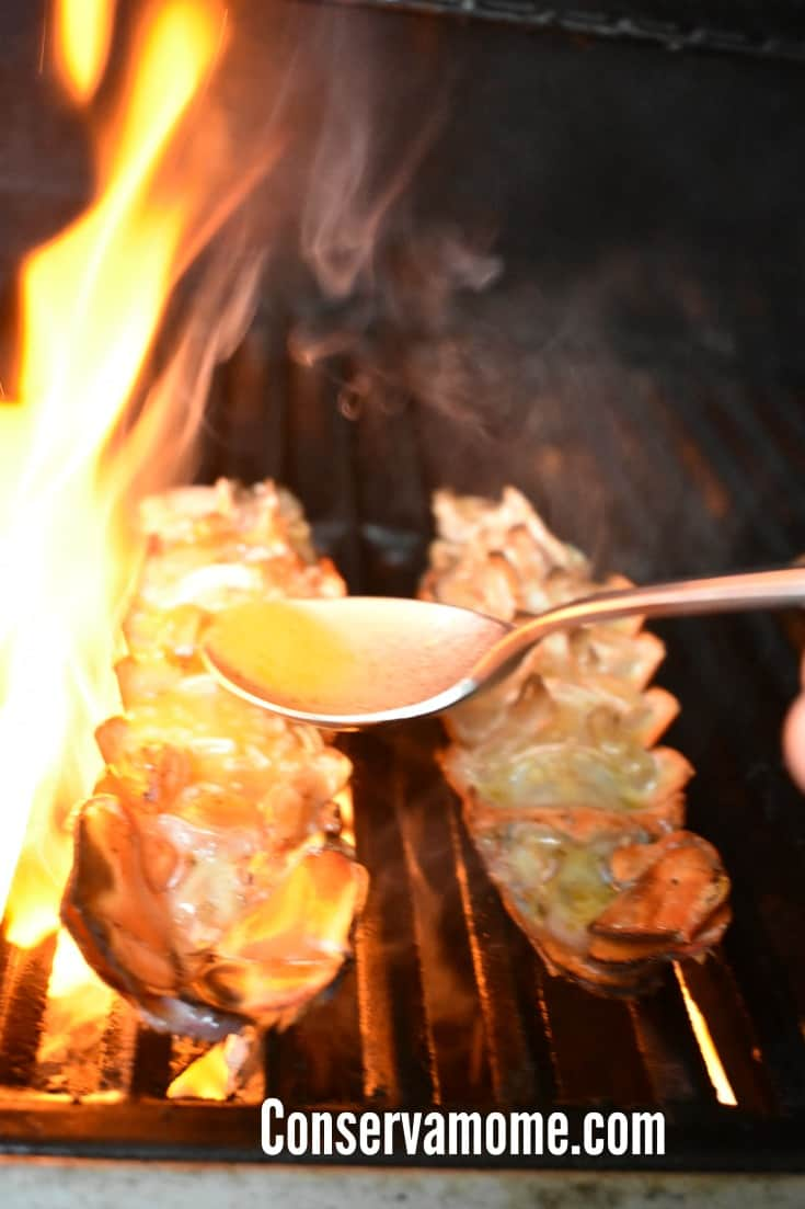 grilling a lobster tail