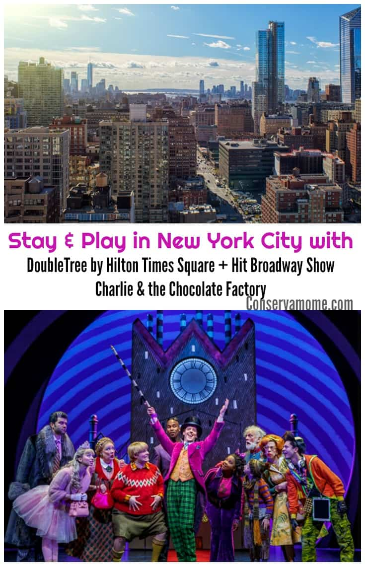 Looking for a fun getaway to New York City? Check out the awesome partnership between DoubleTree by Hilton Times Square + Hit Broadway Show Charlie & the Chocolate Factory!