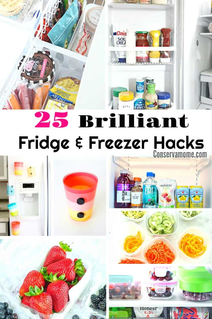 Life just got easier with these 25 Brilliant Fridge & Freezer Hacks. Check out the best Freezer and Fridge Hacks on the internet!