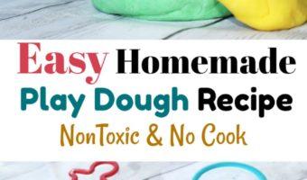 Easy Homemade Play Dough Recipe: Non Toxic No Cook
