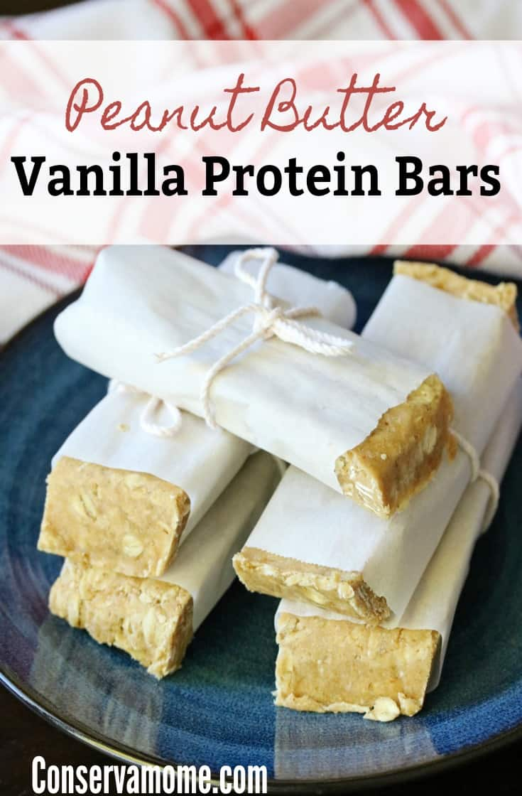 Homemade Protein bars are all the rage because of their delicious taste, homemade ingredients and great nutrition. This Easy recipe for Peanut Butter Vanilla Protein Bars will be a hit for the whole family.