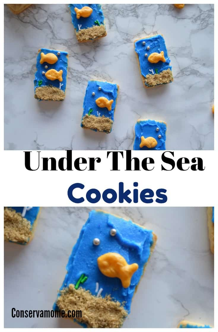 No bake Ocean Themed cookies