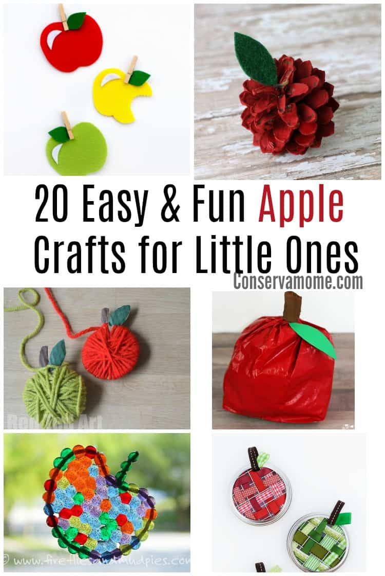 These 20 Easy & Fun Apple crafts for little ones will provide hours of fun for you and your kids. This fun round up is the perfect way to kick start fall fun!