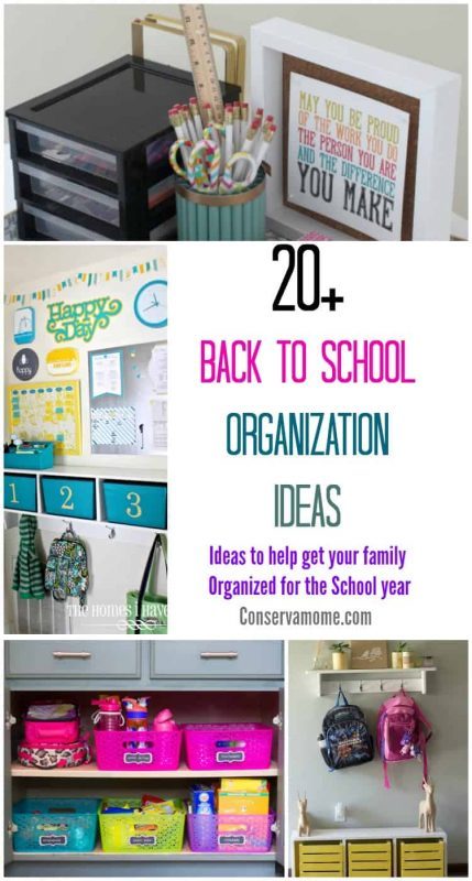 20+ Back to School Organization Ideas