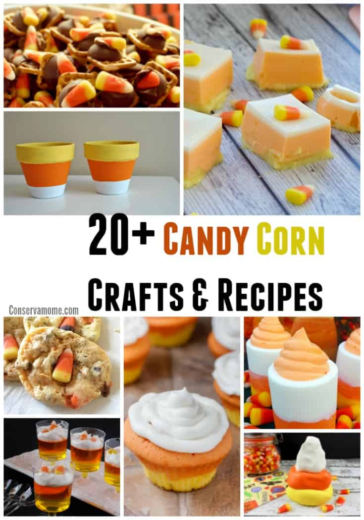 Candy Corn is a popular fall treat. Check out this fun round up of Candy Corn Crafts & recipes that will spotlight the fun you can have with this delicious and fun candy.