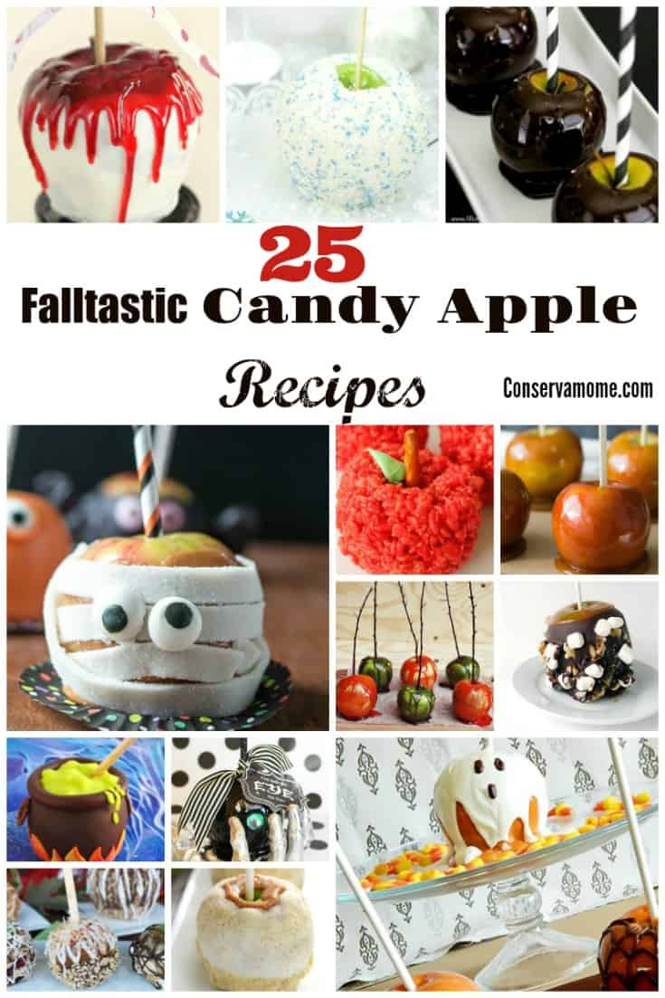 Who can resist the delectable taste of Candy Apples? Here is a fun round up of 25 Falltastic Candy Apple recipes sure to be a huge hit! Delicious and so fun to make you won't know where to start!