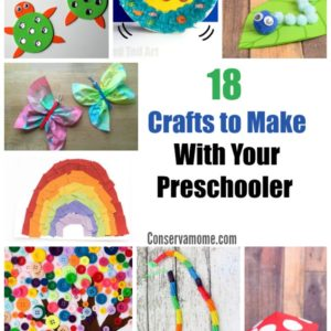18 Crafts to Make with Your Preschooler -A round up of fun Preschool Crafts!