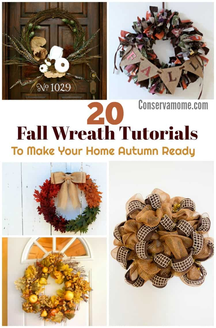 This fun round up of 20 DIY Fall Wreath Tutorials Will Make Your Home Autumn Ready and welcome all who visit. These are all easy to make and so beautiful to look at!