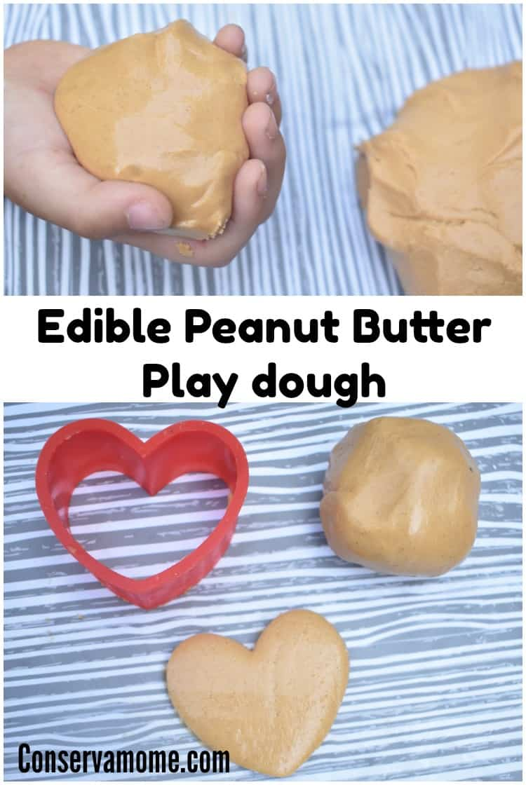 This Edible Peanut Butter Play dough will provide hours of fun for your little ones (and yourself). The hardest part will be not eating it!
