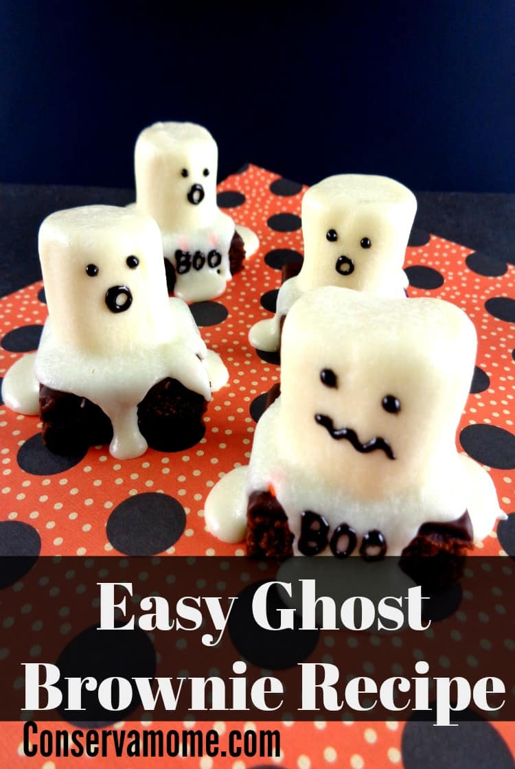 These delicious & easy Ghost Brownies recipe will be a huge hit. Easy to make and so much fun to eat, it will be the perfect spooky Halloween  treat!