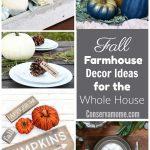 Fall farmhouse decor ideas for the whole house