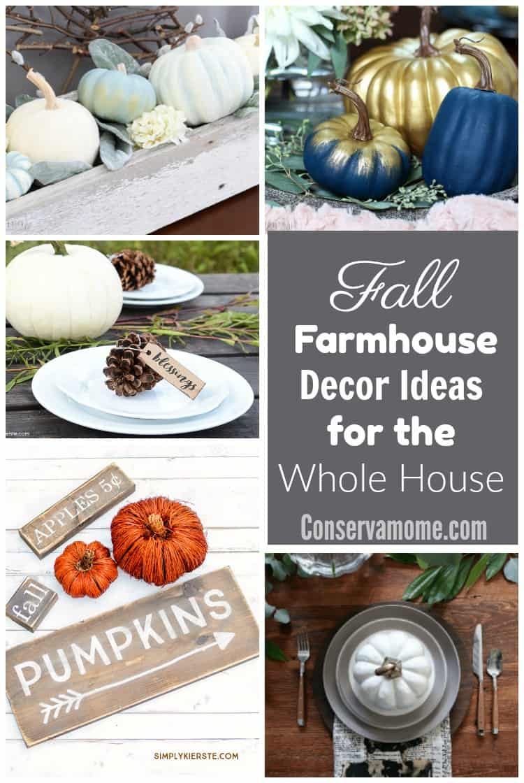Fall is almost here! Check out this fun round up of Fall Farmhouse Decor ideas for the Whole House.